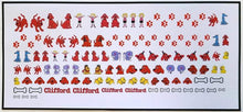 Load image into Gallery viewer, Clifford Nail Decals Water Slide Big Red Dog Cartoon Book Nail Art