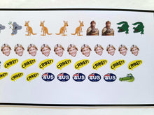 Load image into Gallery viewer, Steve Irwin Nail Decals Water Slide Nail Art Aussie Pride
