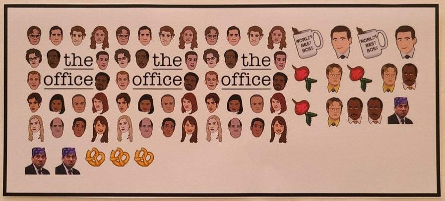 The Office Nail Decals Water Slide TV Show Nail Art