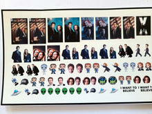 Load image into Gallery viewer, X-Files Nail Decals Water Slide Nail Wraps Fox Mulder Dana Scully Aliens UFO