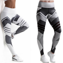 Load image into Gallery viewer, Plus Size Women Sexy Workout Black Leggings Camouflage Camo Pants