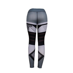 Plus Size Women Sexy Workout Black Leggings Camouflage Camo Pants