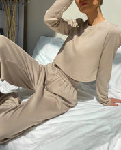 Load image into Gallery viewer, Khaki Casual 2 Piece Set Knittet SUIT
