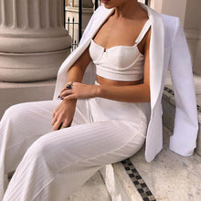 Load image into Gallery viewer, Crop Top Wide Leg Pants  Women Two Piece Set Outfits