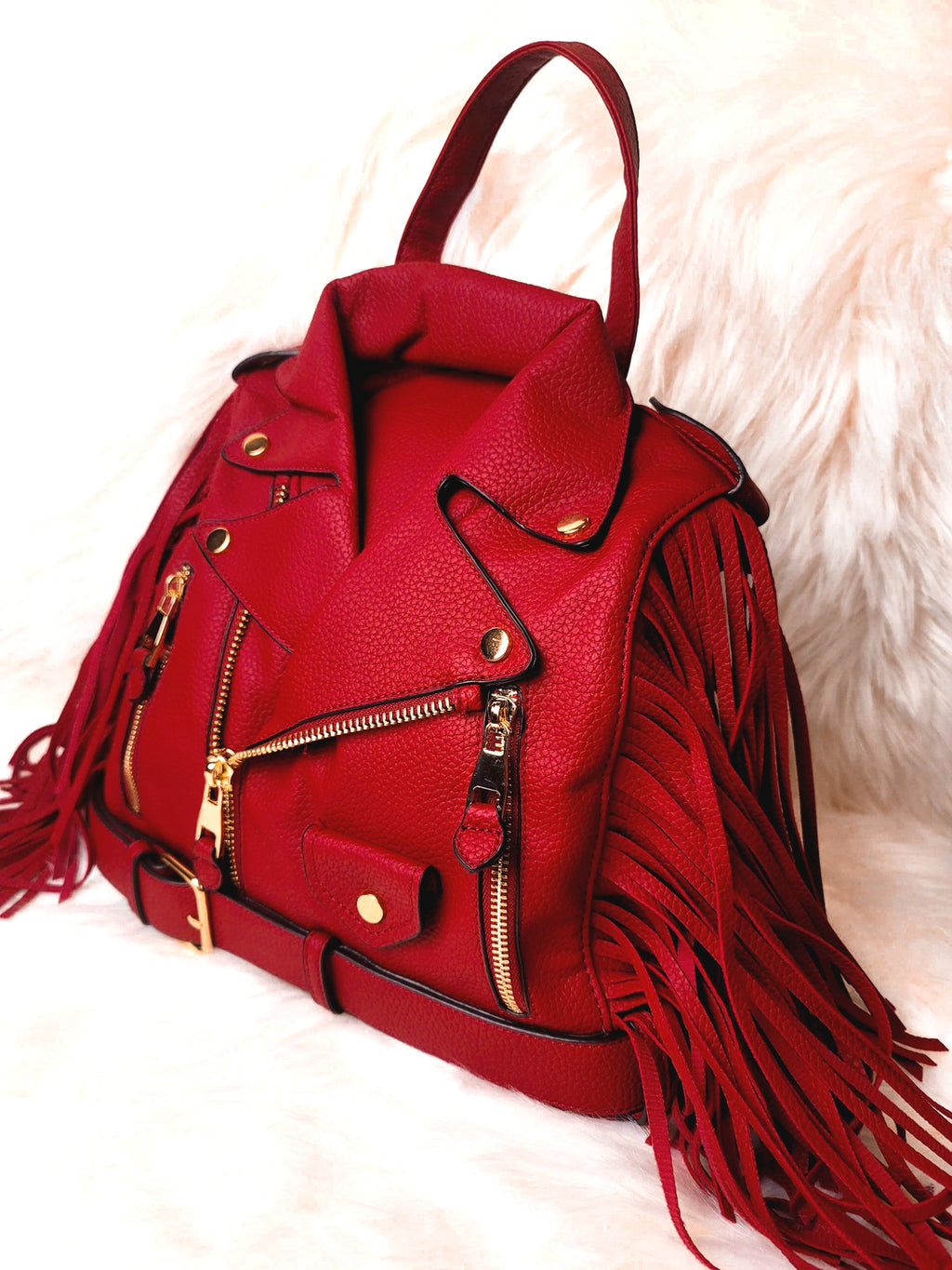 Janet Jacket Bag- Cherry Red