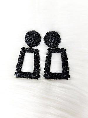 Glamour- Black Earrings