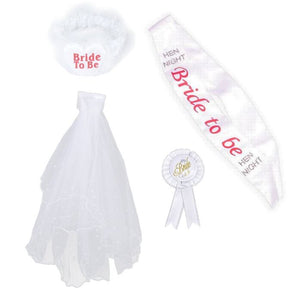 4 piece Bride To Be Accessory Set