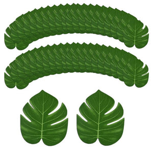 24 x Green Leaves Hawaiian Party Table Decor