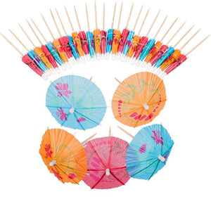 30 Mini Cocktail Umbrellas
