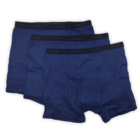 Hanes Classics - Men's Boxer Briefs - 3 Pack - Blue