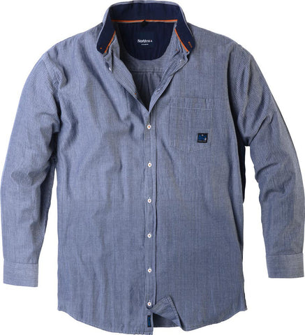 Men's Big Casual Striped Shirt 53138