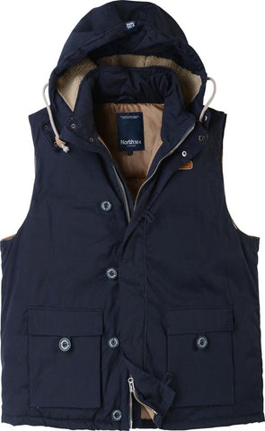 Men's Big Navy Blue Vest with Hood 53188