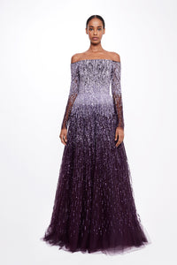 Sequin Off The Shoulder Ballgown