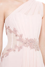 Load image into Gallery viewer, Silk Chiffon One Shoulder Gown