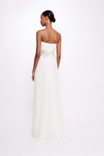 Load image into Gallery viewer, Silk Chiffon Strapless Gown