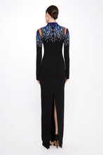 Load image into Gallery viewer, Stretch Crepe Gown With Embroidered Neckline