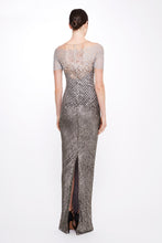 Load image into Gallery viewer, Sequin Cross Hatch Gown