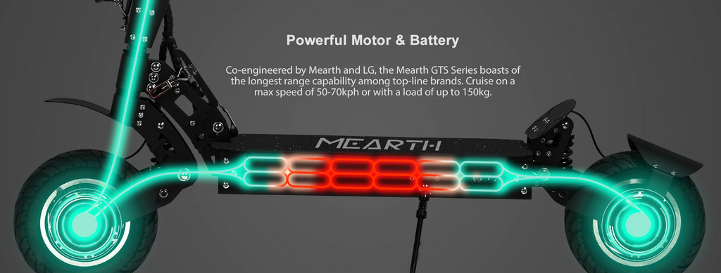 Mearth GTS Series Off-road Electric Scooter speed up to 70kph with load up to 150kg
