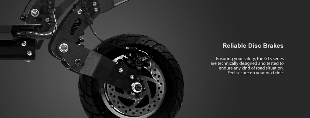 Mearth GTS Series Off-road Electric Scooter Reliable disc brakes