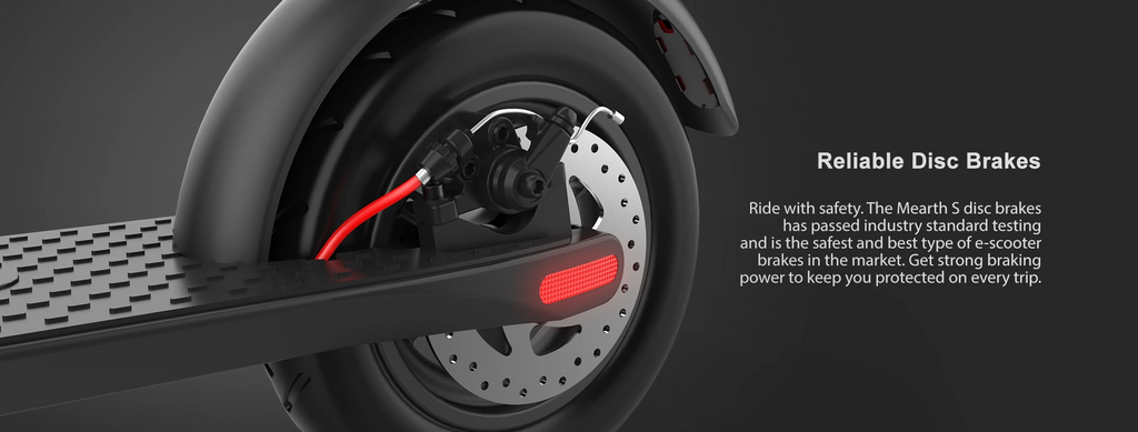 Mearth S and S Pro Electric Scooter Reliable Disc Brakes