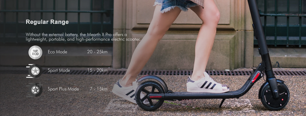 Mearth X Pro Electric Scooter Regular range up to 25km