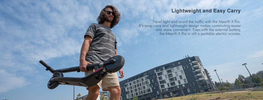 Mearth X Pro Electric Scooter is lightweight and easy to carry
