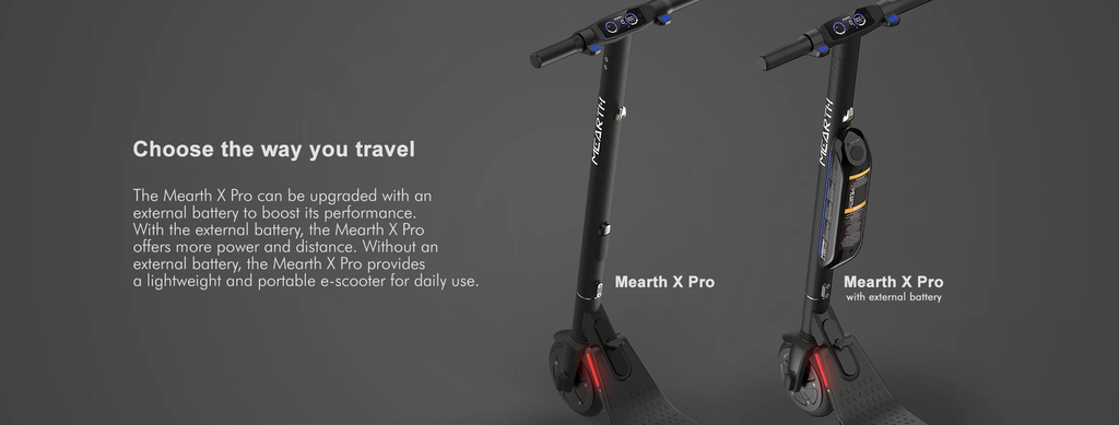 Mearth X Pro Electric Scooter Upgrade with External Battery