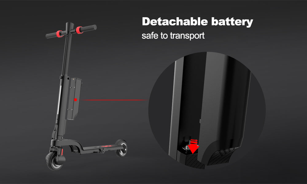 Most foldable escooter Backpack electric scooter - detachable battery