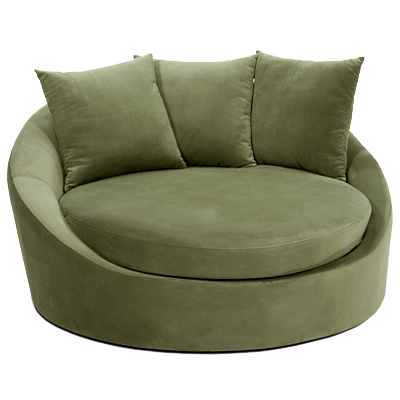 ... Avenue Six Roundabout Spring Green Low Circle Lounger ...