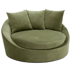 Avenue Six Roundabout Spring Green Low Circle Lounger