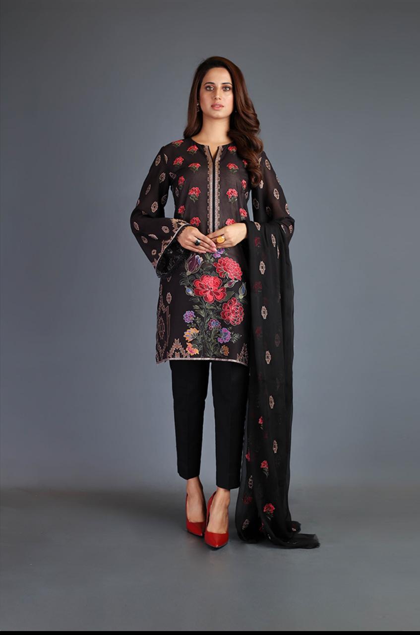 2 Piece KHAADI A+ MASTER COPY Fully Embroided