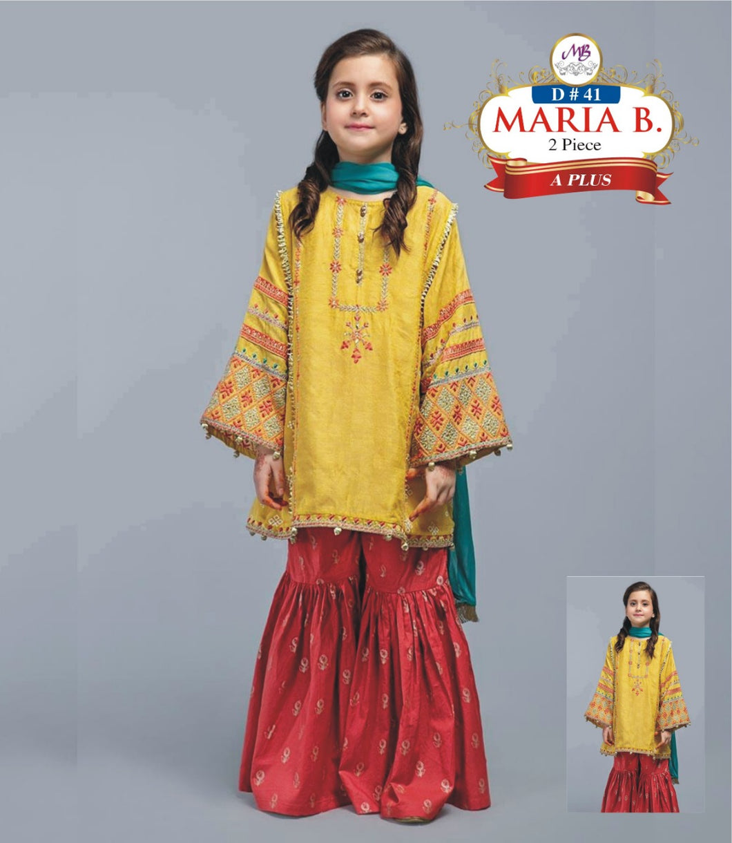 2 Piece Kids Dress Maria B Master Winter Collection