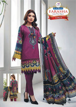 Load image into Gallery viewer, 3 Piece Dress with Wool Shawl Linen collection A Plus Replica Neck Embroidery