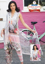 Load image into Gallery viewer, 3 Piece Linen Dress with Linen Dubbata Master Copy Pink