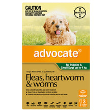 Load image into Gallery viewer, Advocate Fleas, Heartworm & Worms For Puppies & Small Dogs Up To 4kg