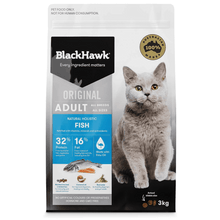 Load image into Gallery viewer, Black Hawk Adult Cat Dry Food - Fish Flavour
