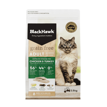 Load image into Gallery viewer, Black Hawk Grain Free Chicken & Turkey Cat Food - Adult Felines