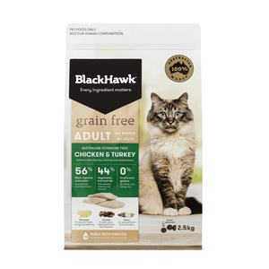 Black Hawk Grain Free Chicken & Turkey Cat Food - Adult Felines
