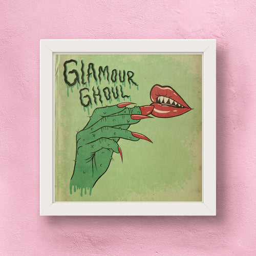 classy creeps glamour ghoul art print