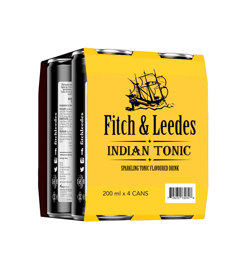Fitch & Leedes Indian Tonic Water (200ml x 4)