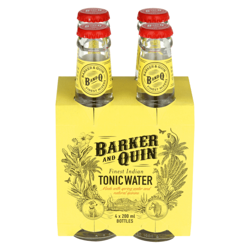 Barker and Quin Finest Indian Tonic Water (200ml x 4)