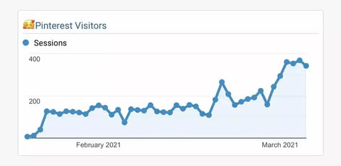 Real Life Example Of Pinterest Website Traffic Increase