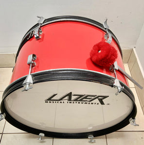 Bombo grande color rojo Lazer Musical Instruments - Instrumento musical