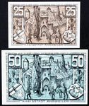 "AHRWEILER 1921 ""If Only We Could Give Silver..."" Blue and brown complete series German Notgeld"