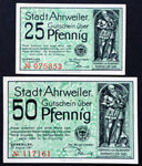 "AHRWEILER 1921 ""If Only We Could Give Silver..."" Green complete series German Notgeld"
