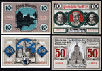 "ALLENSTEIN 1921 ""Baking Bread for Russian Soldiers"" complete series German Notgeld East Prussia today Olsztyn Poland"