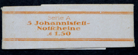 "ALTENBURG 1921 *XX-RARE* ""Johannisfest"" Original Bundle Wrapper! German Notgeld"