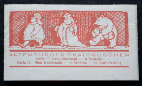 "ALTENBURG 1921 *XX-RARE* ""Kalendermann"" Original Bundle Wrapper! German Notgeld"