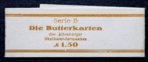 "ALTENBURG ""Compulsory Butter Economy"" XX-RARE Original Bundle Wrapper! German Notgeld"