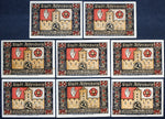 "ALTENBURG 1921 ""Kidnapping of the Two Princes"" complete series German Notgeld"